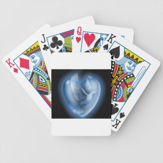 Dove Heart Playing Cards
