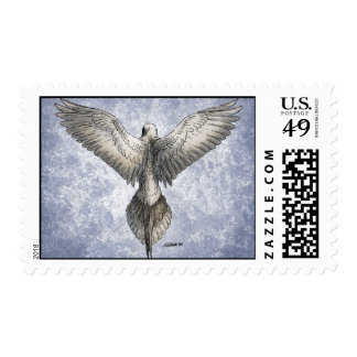 Dove in Flight Nature Drawing Postage