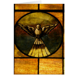 Dove in stained glass card