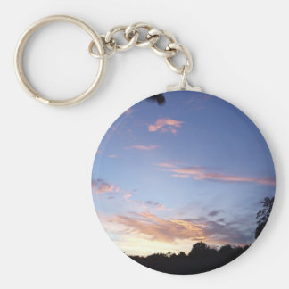Dove in sunset keychain