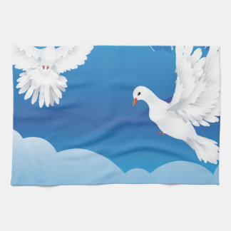 Dove in the Sky 3 Hand Towels