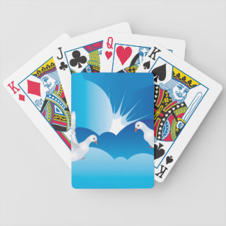 Dove in the Sky 7 Bicycle Playing Cards