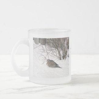 Dove in the Snow Scripture Mug