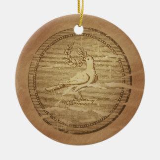 Dove & Laurel Branch Peace Greek Ceramic Ornament