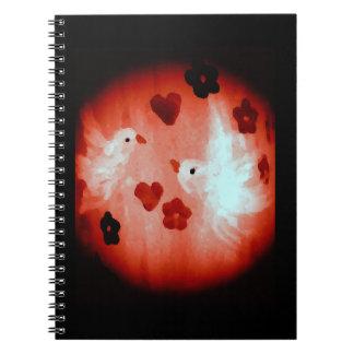 Dove Love Birds Art Spiral Notebook