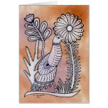 Dove, Mexican Bark Style Greeting Card
