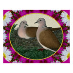 Dove Nest and Flowers Print