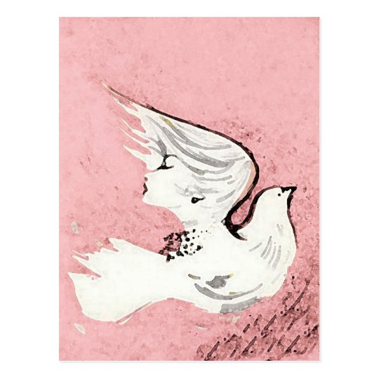Dove of a Women ~ Postcard / Invitation