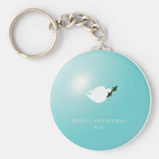 Dove of Christmas Peace Keychain