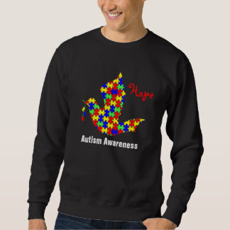 Dove of Hope - Autism Puzzle Pieces Sweatshirt