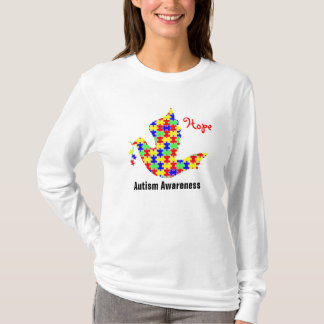 Dove of Hope - Autism Puzzle Pieces T-Shirt