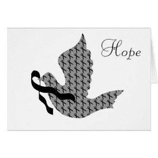 Dove of Hope Black Ribbon - Melanoma Card