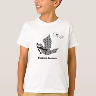 Dove of Hope Black Ribbon - Melanoma T-Shirt
