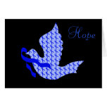 Dove of Hope Blue Ribbon - Colon Cancer Greeting Card