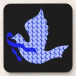 Dove of Hope Blue Ribbon - Colon Cancer Coaster