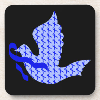 Dove of Hope Blue Ribbon - Colon Cancer Coaster