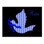 Dove of Hope Blue Ribbon - Colon Cancer Postcard