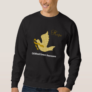 Dove of Hope Gold Ribbon - Childhood Cancer Sweatshirt