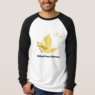 Dove of Hope Gold Ribbon - Childhood Cancer T-Shirt