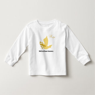 Dove of Hope Gold Ribbon - Childhood Cancer Toddler T-shirt