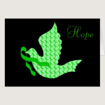 Dove of Hope Green Ribbon - Liver Cancer Card