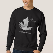 Dove of Hope Grey Ribbon Brain Cancer Tumor Sweatshirt