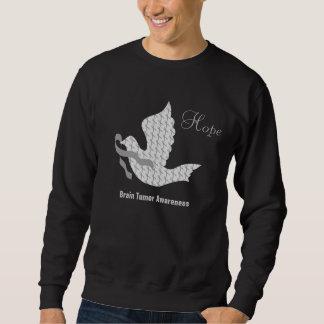 Dove of Hope Grey Ribbon Brain Cancer Tumor Sweatshirt