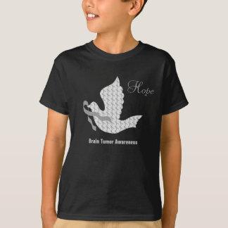 Dove of Hope Grey Ribbon Brain Cancer Tumor T-Shirt