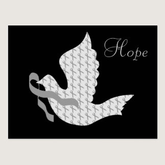 Dove of Hope Grey Ribbon - Diabetes Postcard