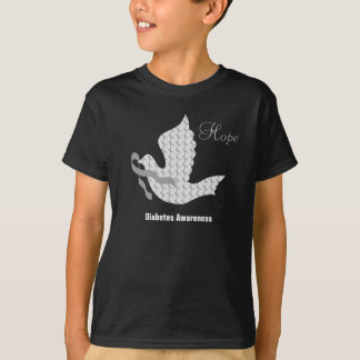 Dove of Hope Grey Ribbon - Diabetes T-Shirt