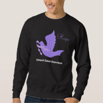 Dove of Hope Periwinkle Ribbon - Stomach Cancer Sweatshirt