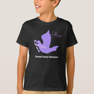 Dove of Hope Periwinkle Ribbon - Stomach Cancer T-Shirt