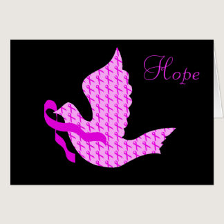 Dove of Hope Pink Ribbon - Breast Cancer Card