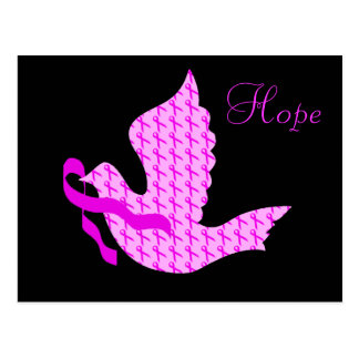 Dove of Hope Pink Ribbon - Breast Cancer Postcard