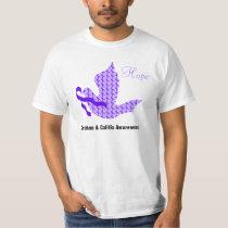 Dove of Hope Purple Ribbon - Crohn's & Colitis T-Shirt
