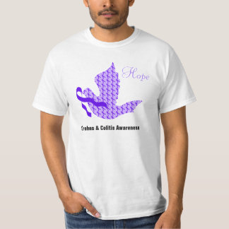 Dove of Hope Purple Ribbon - Crohn's & Colitis T-Shirt