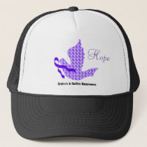 Dove of Hope Purple Ribbon - Crohn's & Colitis Trucker Hat
