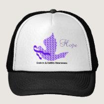Dove of Hope Purple Ribbon - Crohn's & Colitis Trucker Hat
