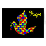 Dove of Hope - Puzzle Pieces Cards