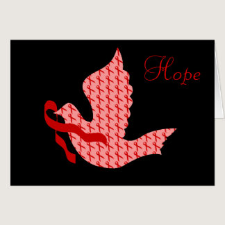 Dove of Hope Red Ribbon - AIDS & HIV Card