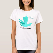 Dove of Hope - Teal Ribbon (Cervical Cancer) T-Shirt