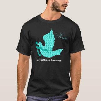 Dove of Hope - Teal Ribbon (Cervical Cancer) T-Shirt