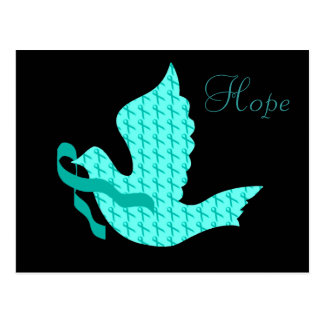 Dove of Hope Teal Ribbon - Ovarian Cancer Postcard