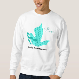 Dove of Hope - Teal Ribbon Ovarian Cancer Sweatshirt