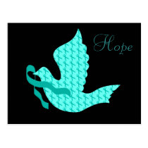 Dove of Hope - Uterine Cancer Teal Ribbon Postcard