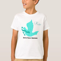 Dove of Hope - Uterine Cancer Teal Ribbon T-Shirt