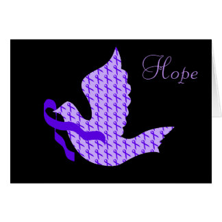 Dove of Hope Violet Ribbon - Hodgkin's Lymphoma Card