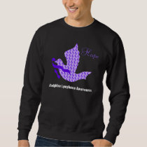 Dove of Hope Violet Ribbon - Hodgkin's Lymphoma Sweatshirt