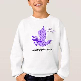 Dove of Hope Violet Ribbon - Hodgkin's Lymphoma Sweatshirt