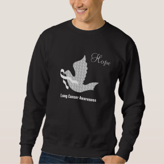 Dove of Hope White Ribbon - Lung Cancer Sweatshirt